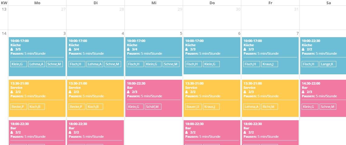 schichtplaner kalendar